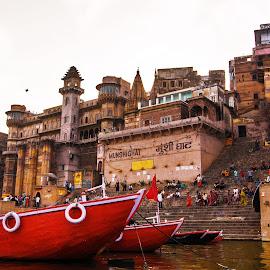 Kashi Ghats by Avanish Dureha - City,  Street & Park  Vistas ( varansi, kashi, dureha@gmail.com, incredible india, banaras, avanish dureha )
