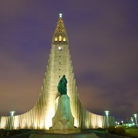 Hallgrímskirkja by Peter Stratmoen - Uncategorized All Uncategorized ( reykjavik, lutheran, hallgrimskirkja, church, iceland )
