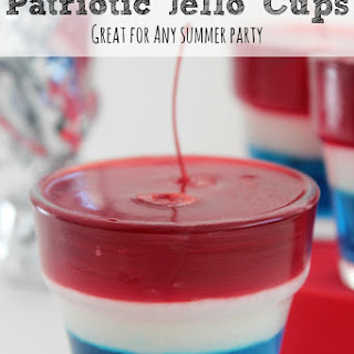 Patriotic Jello Cups | 3 Cheers For The Red, White and Blue!