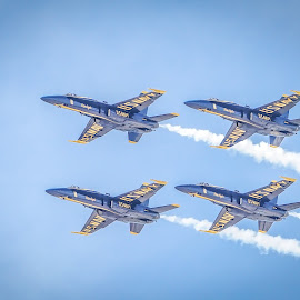 Blue Angels by Ed Mullins - Transportation Airplanes ( formation, air show, blue angels )