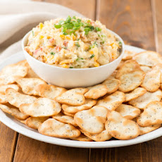 Bacon and Cheddar Dip with Almonds