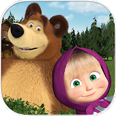 Masha and the Bear. Educational Games Icon