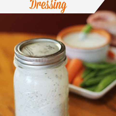 Homemade Healthier Ranch Dressing