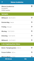 Screenshot of Mensa Aachen