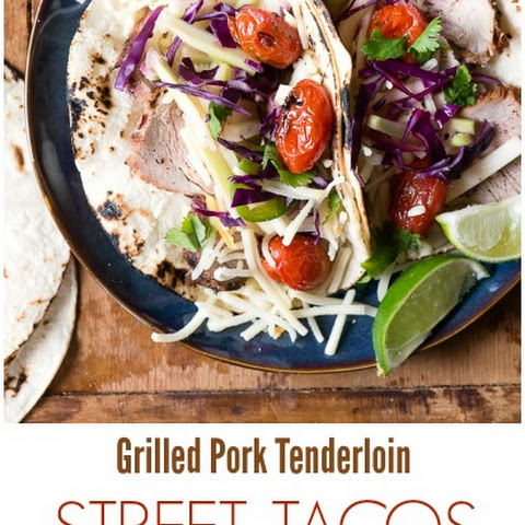 Pork Street Tacos with Pickled Broccoli Stem Slaw and Blistered Tomatoes