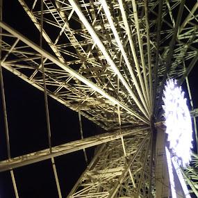 light up! by Hayley Springall - City,  Street & Park  Amusement Parks ( victoria park, night, ferris wheel )