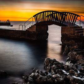 Funtana by Ivan Vojic - Buildings & Architecture Bridges & Suspended Structures ( sky, croatia, sea, long exposure, seascape )