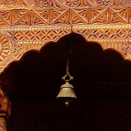 The Artistic Arch.. by Anoop Namboothiri - Buildings & Architecture Architectural Detail ( bell, wooden, arch, architecture )