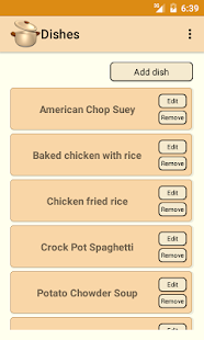 Dinner Planner - screenshot