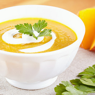 Curried Butternut Squash Soup with Ginger