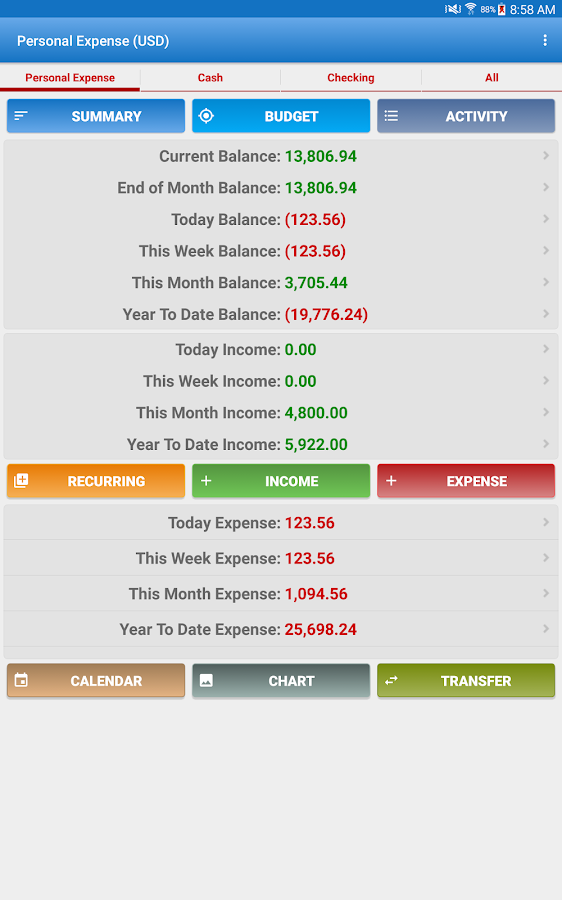 Expense Manager Pro Screenshot 8