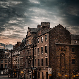 Side by Adam Lang - City,  Street & Park  Historic Districts ( side, sunrise, city, buildings, newcastle, dean street )