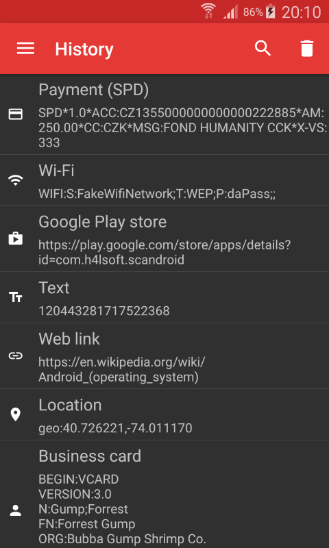 ScanDroid code scanner (PRO) Screenshot 6