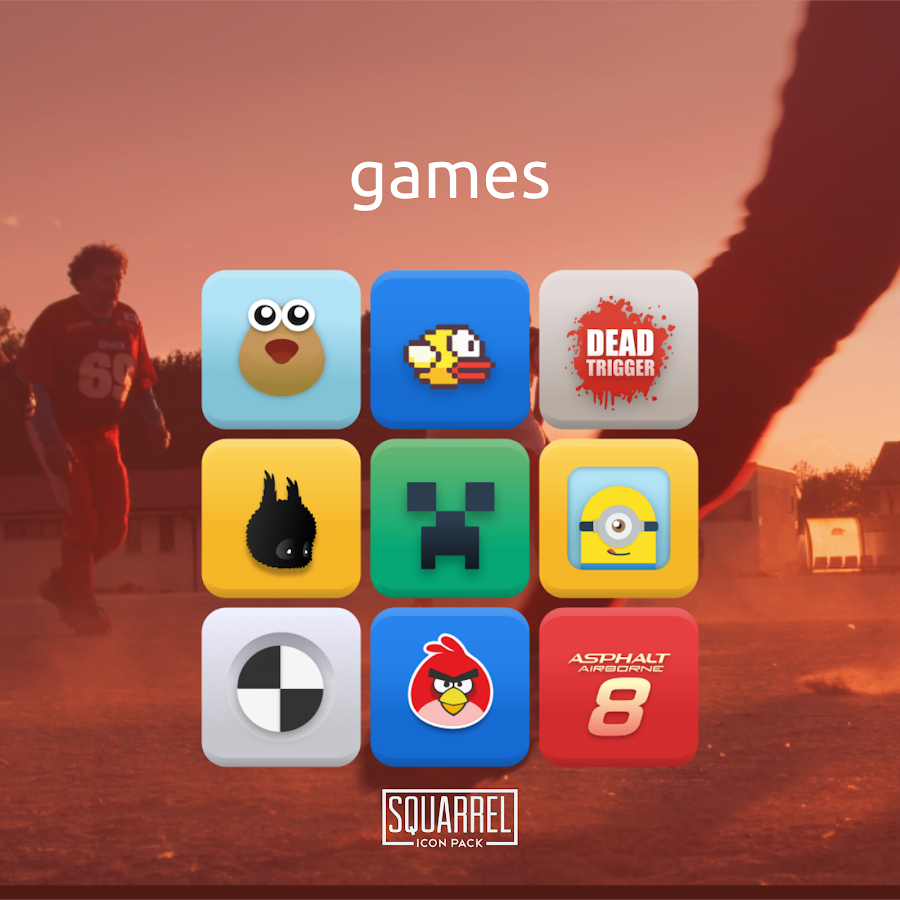 Squarrel Icon Pack Screenshot 4