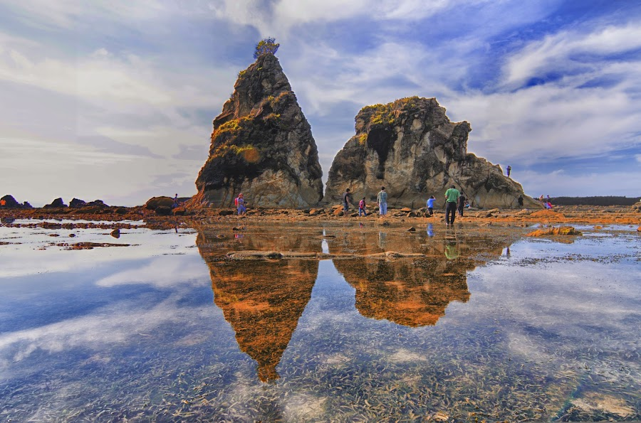 Reflection, Tanjung Layar, Sawarna by Daniel Widjaja - Travel Locations Landmarks