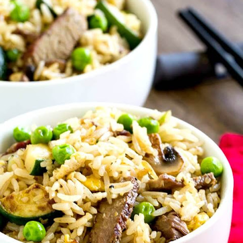 Leftover Steak Fried Rice