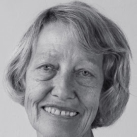 Portrait of a Lady by Susan Van Wyk - Black & White Portraits & People ( face, white, black, portrait, smile )