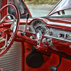 '55 Chevy Interior by Michael Lopes - Transportation Automobiles ( 55 chevy interior, classic car, 55 chevy, custom car )