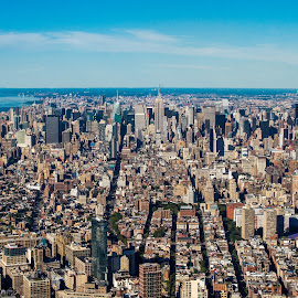 Manhattan Island by Frank DeChirico - Buildings & Architecture Office Buildings & Hotels
