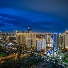 KH Mas Mansyur by Palus Liem - City,  Street & Park  Skylines ( city at night, street at night, park at night, nightlife, night life, nighttime in the city )