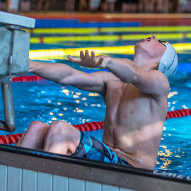 Backstroke start by Michael Jensen - Sports & Fitness Swimming ( swimsuit, swimwear, swimmingpool, swimming, competition )