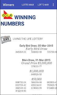 Olg Lottery Winners - screenshot