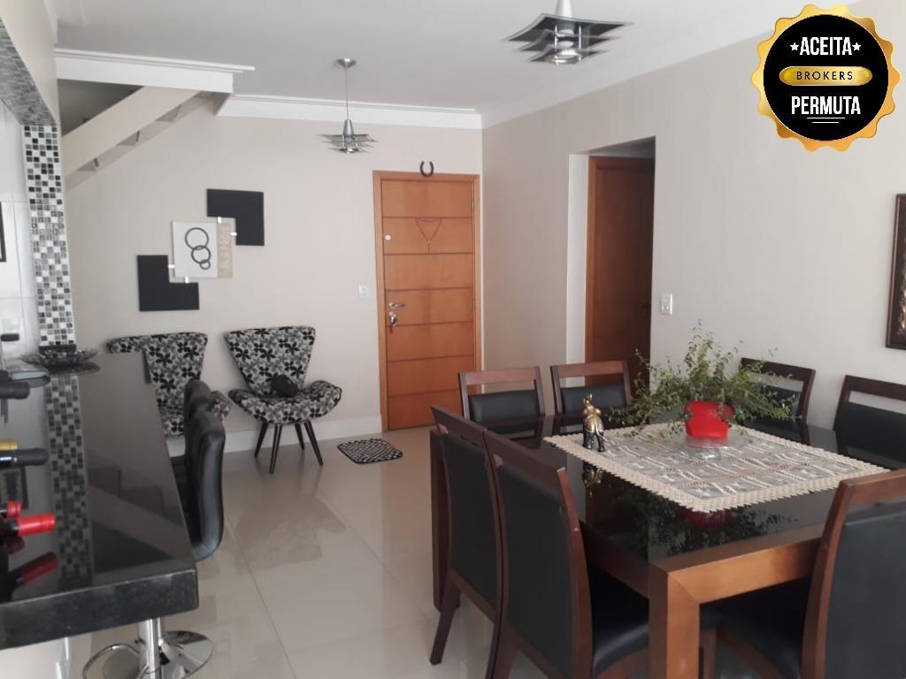 Apartamento Duplex à venda, 120 m² por R$ 830.000,00 - Nova Gerti - São Caetano do Sul/SP