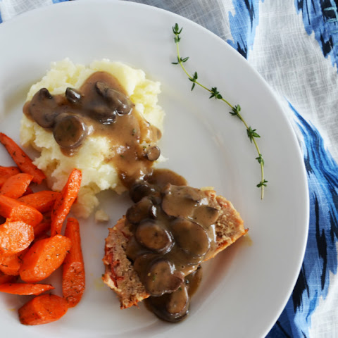 Perfect Turkey Meatloaf with Mushroom Gravy