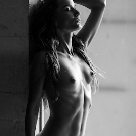 at the door by Reto Heiz - Nudes & Boudoir Artistic Nude ( erotic, sexy, nude, nudeart, female nude, sensual )