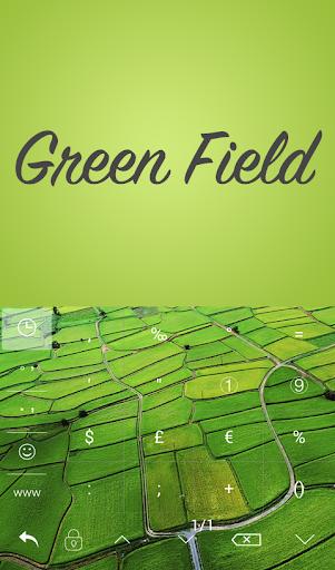 Green Field Keyboard Theme - screenshot