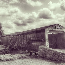 Historic Covered Bridge by Lisa Newberry - Buildings & Architecture Bridges & Suspended Structures