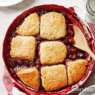 Cherry-Black Pepper Cobbler