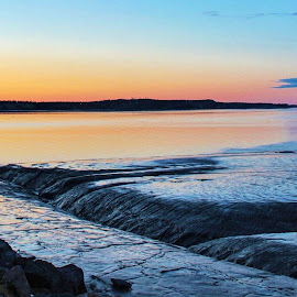 Tides Out Sunset by Patricia Phillips - Landscapes Sunsets & Sunrises ( alaska anchorage sunset low- tide )