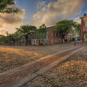 Main Street, Nantucket by Robert Burger - City,  Street & Park  Historic Districts