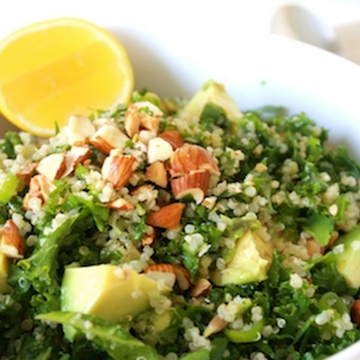 Kale, Quinoa & Almond Salad Recipe   Yummly