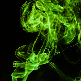 Neon Smoke by Shadman Samin - Abstract Fine Art