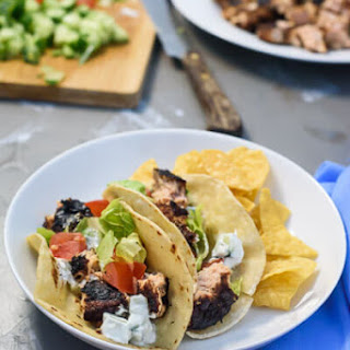 30 Minute Balsamic Salmon Burger Tacos