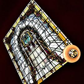 Art Deco window by Heather Aplin - Artistic Objects Glass