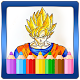 Coloring book for Dragon Goku Superhero