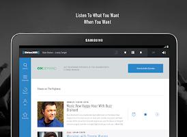 Screenshot of SiriusXM Canada