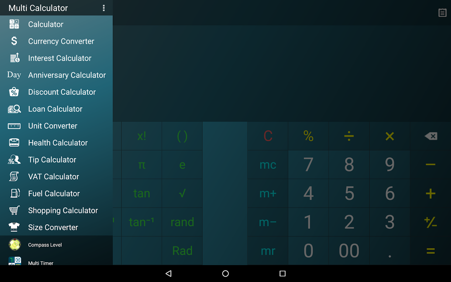 Multi Calculator Screenshot 8