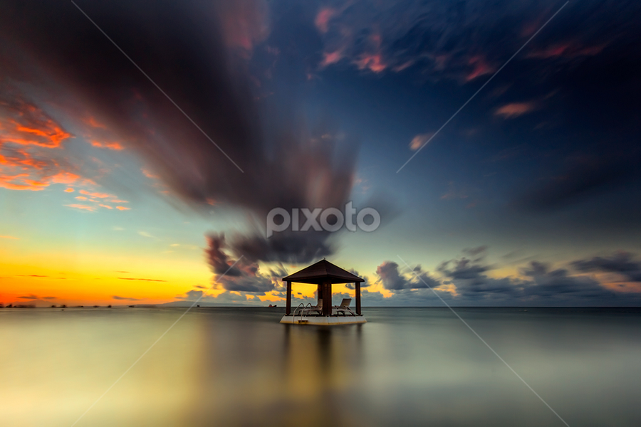 On My Way by Choky Ochtavian Watulingas - Landscapes Waterscapes ( clouds, seashore, clouds and sea, cloudy, long exposure, sunrise, seascape )