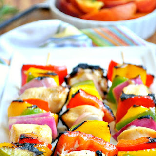 Peach-Glazed Chicken Kabobs