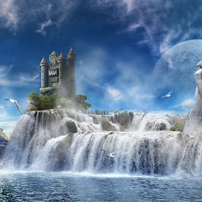 Land of Gods by S. S. - Digital Art Abstract ( fantasy digital art abstract )