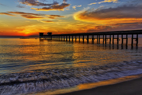 Morning Color by Charliemagne Unggay - Landscapes Waterscapes ( water, orange, nature, colors, sunrise, landscape, beach )