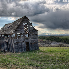 Teton View by Stacy White - Buildings & Architecture Decaying & Abandoned ( barn, empty, tetons, decay, abandoned )
