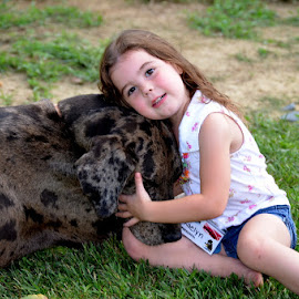 4 year old with her dog by Missy Moss - Babies & Children Children Candids