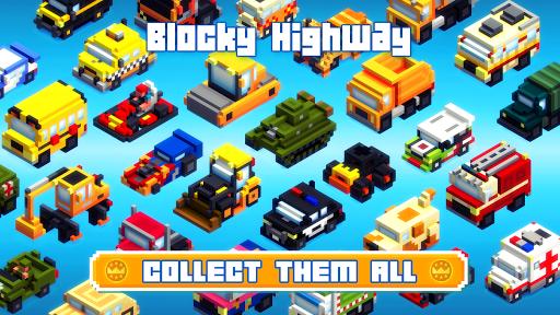 Blocky Highway: Traffic Racing - screenshot