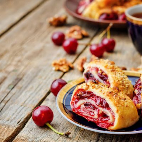 Sweet Cherry Pancake Roll-Ups