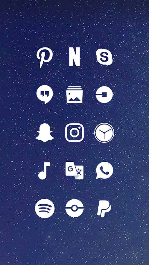 Whicons - White Icon Pack Screenshot 0